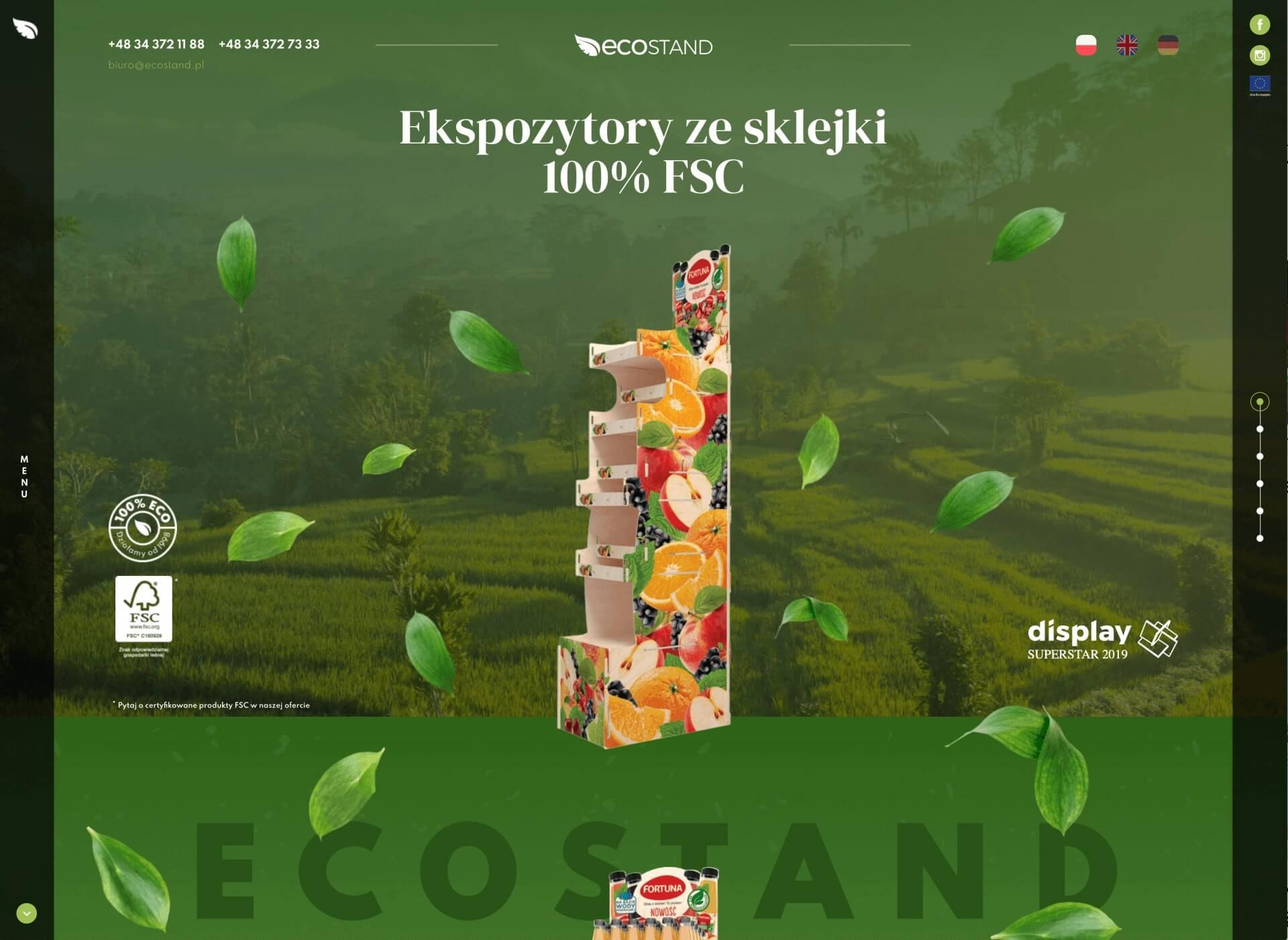 Widok strony ecostand